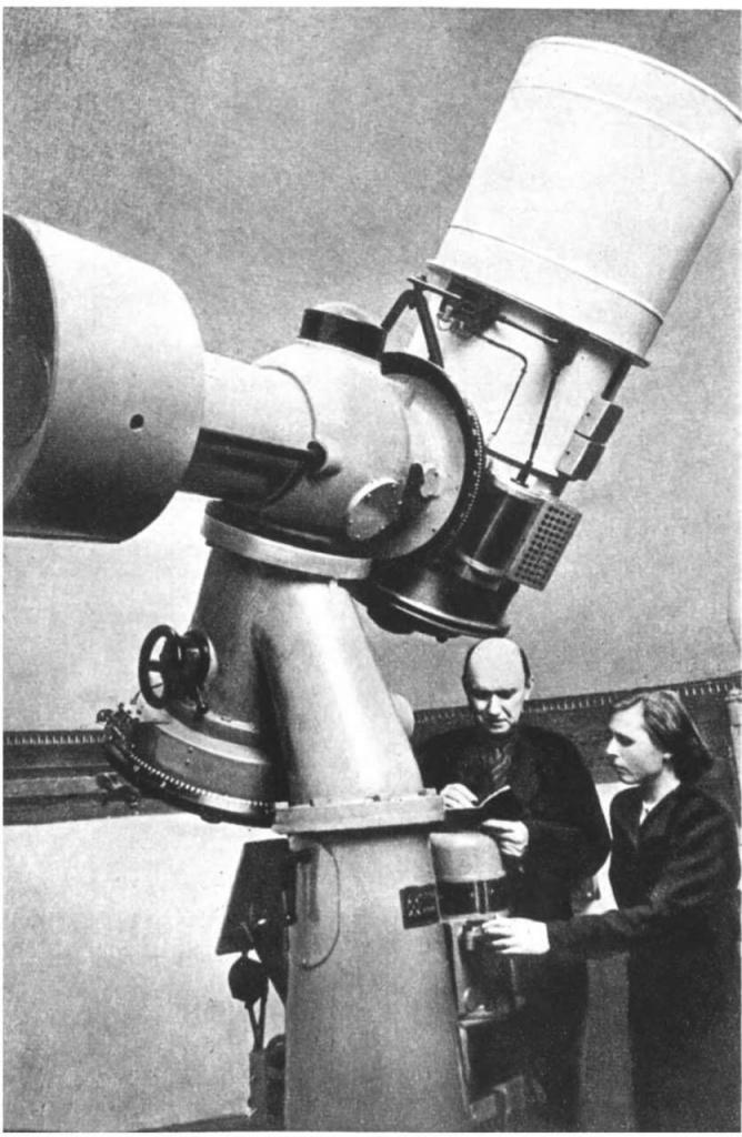 Телескоп Максутова. У телескопа автор Д Д. Максутов