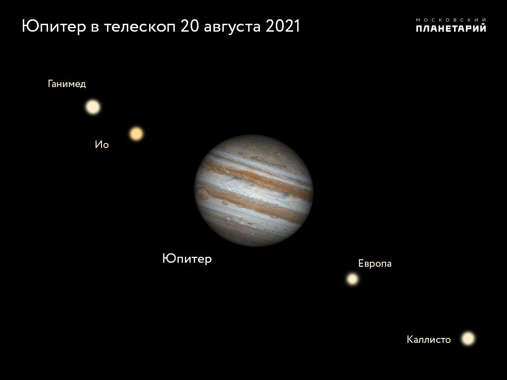 юпитер-в-телескоп
